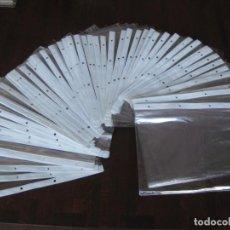 Coleccionismo Papel Varios: LOTE DE 80 FUNDAS RECICLADAS DE PLÁSTICO REFORZADO SEMI RIGIDO, PARA COLECCIÓN, TEBEOS, PROGRAMAS. Lote 146202722