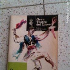 Coleccionismo Papel Varios: REVISTA DEL GRAN TEATRO DEL LICEO AÑO 1965. Lote 146283270
