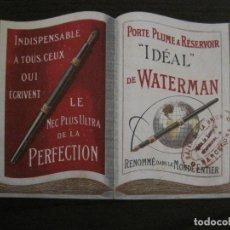 Coleccionismo Papel Varios: PLUMAS WATERMAN-PUBLICIDAD ANTIGUA TROQUELADA-PLUMA WATTERMAN'S-VER FOTOS-(V-15.782). Lote 146568058
