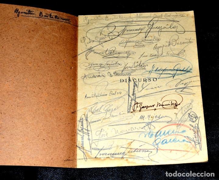 Coleccionismo Papel Varios: DISCURSO DE D. EUGENIO A. DE ASIS EN EL PARANINFO INSTITUTO DE ZAMORA 1940 Y FIRMAS DE ASISTENTES - Foto 4 - 146606846