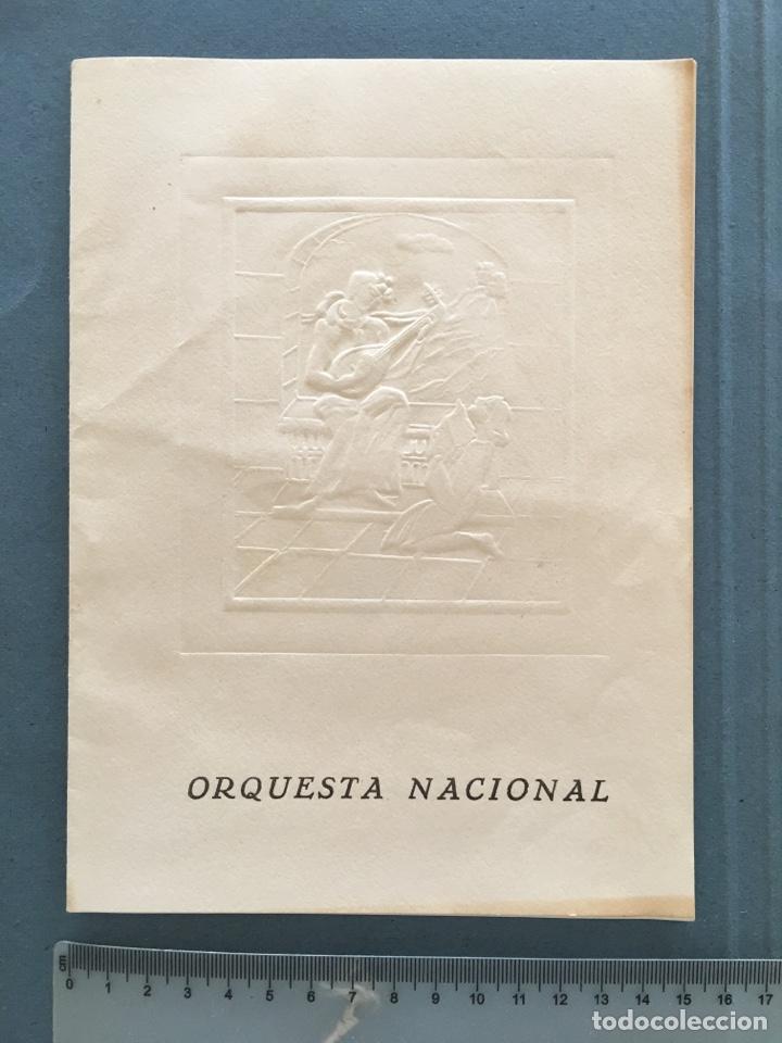 Coleccionismo Papel Varios: ORQUESTA NACIONAL. PALACIO DE LA MÚSICA. FEBRERO, 1962. - Foto 3 - 146610502