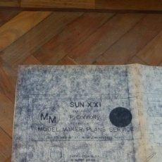Coleccionismo Papel Varios: PLANOS DE BARCO, YATE, EMBARCACIÓN FLUVIAL O MARITIMA. PAPEL DECADA 1940. Lote 146850714