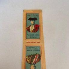 Coleccionismo Papel Varios: LIBRITO DE PAPEL DE FUMAR TOREROS CELEBRES - MIGUEL BOTELLA - ALCOY- FERNANDO GOMEZ Y FRAN ARJONA. Lote 147022238