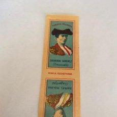 Coleccionismo Papel Varios: LIBRITO DE PAPEL DE FUMAR TOREROS CELEBRES - MIGUEL BOTELLA -ALCOY- SALVADOR SANCHEZ Y RAFAEL MOLINA. Lote 147022530