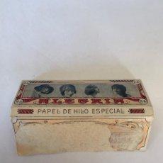 Coleccionismo Papel Varios: LIBRITO DE PAPEL DE FUMAR ALEGRIA - SOBRINOS DE R.ABAD SANTONJA -ALCOY-. Lote 147025030