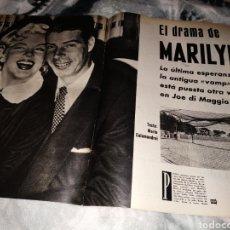 Coleccionismo Papel Varios: REPORTAJE GACETA ILUSTRADA MARILYN MONROE MARZO 1961. Lote 147231726