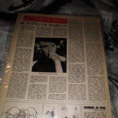 Coleccionismo Papel Varios: REPORTAJE MARILYN MONROE AGOSTO 1962. Lote 147232194