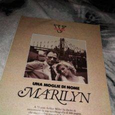 Coleccionismo Papel Varios: V DOSSIER MARILYN MONROE 21 PAGINAS.. Lote 147233033