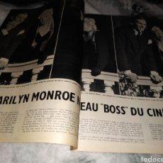 Coleccionismo Papel Varios: REPORTAJE MARILYN MONROE FEBRERO 1956 FRANCÉS. Lote 147233460