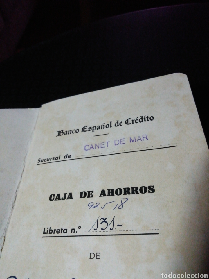 Coleccionismo Papel Varios: Libreta Caja de Ahorros Banco Español de Crédito - Foto 2 - 147244420