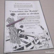 Coleccionismo Papel Varios: RECORTE PUBLICIDAD AÑOS 1929/30 - KODAK. Lote 147291114