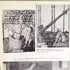 Coleccionismo Papel Varios: PISADO DE UVA (EN PARRAL, EN PRENSA, EN CUBA / TRILLA, AHECHO Y SUBIDA DEL GRANO. TRIGO TROJE (HOJA. Lote 147313066