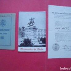 Coleccionismo Papel Varios: CADIZ.-MARCIAL LOPEZ CRIADO.-OBISPO DE CADIZ.-CEUTA.-KALENDARIUM LITURGICUM.-MANUEL GUILLEN ROSON.. Lote 147519018