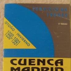 Coleccionismo Papel Varios: ANTIGUO FOLLETO SERVICIO DE TRENES CUENCA MADRID 1990-1991. Lote 147525258