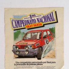 Coleccionismo Papel Varios: PUBLICIDAD AÑOS 80 CAMPEONATO SEAT PANDA. Lote 147616586