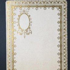 Coleccionismo Papel Varios: ANTIGUO PAPEL DE CARTA, EN RELIEVE, BORDES TROQUELADOS , DIPTICO, PPIOS 1900, IDEAL COLECCIONISTAS. Lote 148039478