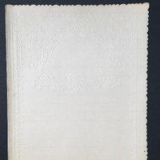 Coleccionismo Papel Varios: ANTIGUO PAPEL DE CARTA, EN RELIEVE, BORDES TROQUELADOS DIPTICO, PPIOS 1900, IDEAL COLECCIONISTAS. Lote 148047778