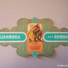 Coleccionismo Papel Varios: VITOLA SOLISOMBRA RUMBO N3. Lote 148229532