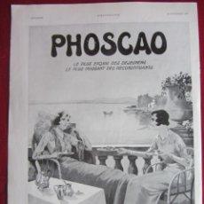Coleccionismo Papel Varios: PHOSCAO. PUBLICIDAD HOJA REVISTA L'ILUSTRATIÓN 1932. IDEAL PARA ENMARCAR. Lote 148238598