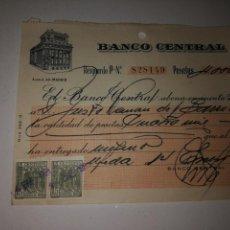 Coleccionismo Papel Varios: BANCO CENTRAL. Lote 148494536