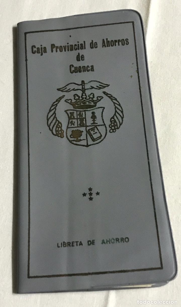 FUNDA Y LIBRETA DE LA CAJA PROVINCIAL DE AHORROS DE CUENCA (Coleccionismo en Papel - Varios)