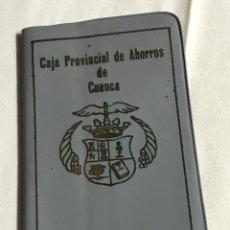 Coleccionismo Papel Varios: FUNDA Y LIBRETA DE LA CAJA PROVINCIAL DE AHORROS DE CUENCA. Lote 148666618