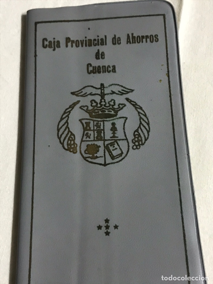 Coleccionismo Papel Varios: FUNDA Y LIBRETA DE LA CAJA PROVINCIAL DE AHORROS DE CUENCA - Foto 2 - 148666618