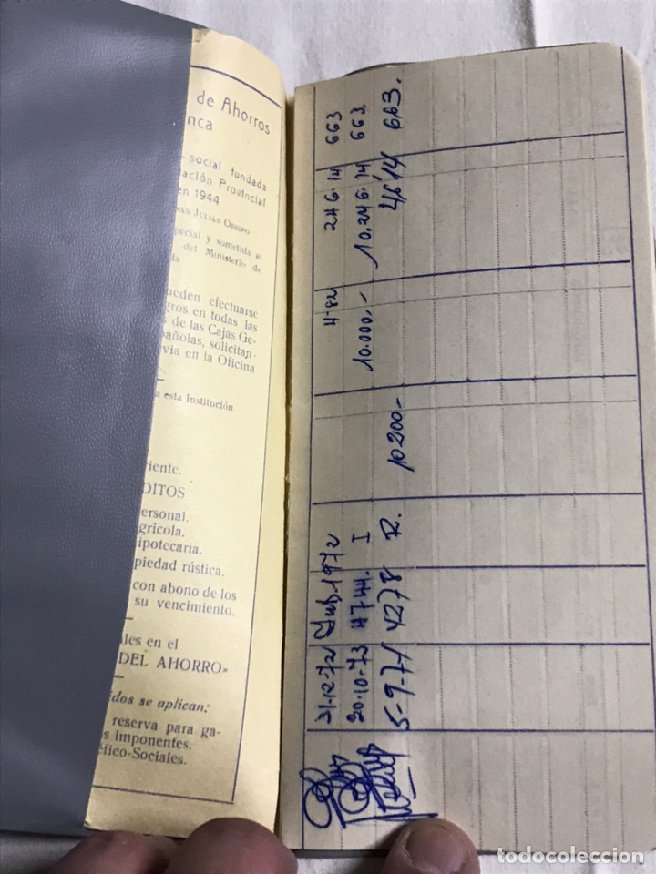 Coleccionismo Papel Varios: FUNDA Y LIBRETA DE LA CAJA PROVINCIAL DE AHORROS DE CUENCA - Foto 3 - 148666618