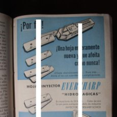 Coleccionismo Papel Varios: EVERSHARP HOJAS INYECTOR HIDROMAGICAS RECORTE PUBLICIDAD VINTAGE REVISTA ANTIGUA AÑO 1957. Lote 148956330