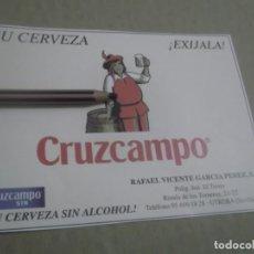 Coleccionismo Papel Varios: RECORTE PUBLICIDAD AÑOS 80/90 .- CERVEZA CRUZCAMPO - UTRERA- SEVILLA . Lote 148968962