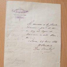 Coleccionismo Papel Varios: DOCUMENTO MINERÍA MINA IBERIA LORCA MURCIA 1876. Lote 149443258