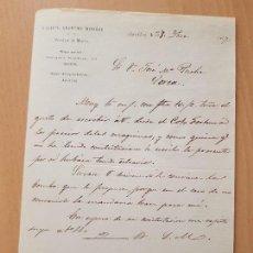 Coleccionismo Papel Varios: DOCUMENTO MINERÍA MINA ÁGUILAS LORCA MURCIA 1877. Lote 149443786