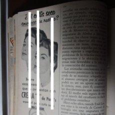 Coleccionismo Papel Varios: POND`S PONDS CREMA DAMA FACIAL RECORTE PUBLICIDAD VINTAGE REVISTA ANTIGUA AÑO 1957. Lote 149473022