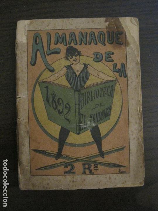EL FANDANGO-ALMANAQUE 1892-VER FOTOS-(V-15.917) (Coleccionismo en Papel - Varios)