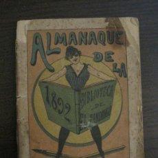 Coleccionismo Papel Varios: EL FANDANGO-ALMANAQUE 1892-VER FOTOS-(V-15.917). Lote 150012302