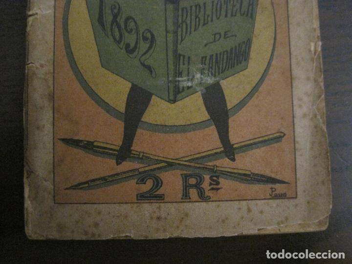 Coleccionismo Papel Varios: EL FANDANGO-ALMANAQUE 1892-VER FOTOS-(V-15.917) - Foto 4 - 150012302