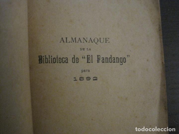 Coleccionismo Papel Varios: EL FANDANGO-ALMANAQUE 1892-VER FOTOS-(V-15.917) - Foto 5 - 150012302