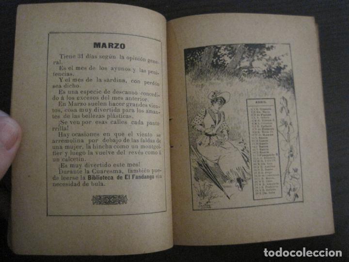 Coleccionismo Papel Varios: EL FANDANGO-ALMANAQUE 1892-VER FOTOS-(V-15.917) - Foto 7 - 150012302