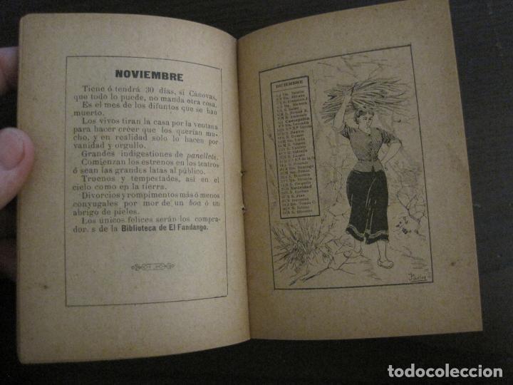 Coleccionismo Papel Varios: EL FANDANGO-ALMANAQUE 1892-VER FOTOS-(V-15.917) - Foto 10 - 150012302