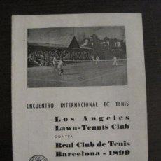 Coleccionismo Papel Varios: REAL CLUB TENIS BARCELONA VS LOS ANGELES-ENCUENTRO INTERNACIONAL TENIS-AÑO 1949-VER FOTOS(V-15.918). Lote 150012862