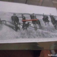 Coleccionismo Papel Varios: RECORTE AÑO 1917 - POSTER REINA VICTORIA Y PRINCIPE DE ASTURIAS,CACERIA LIEBRES EN VENTA DE LA RUBIA. Lote 150607610