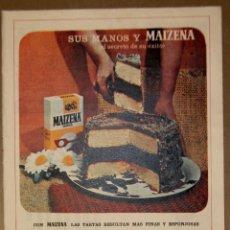 Coleccionismo Papel Varios: RECORTE PRENSA PUBLICIDAD MAIZENA 1965. Lote 150673982