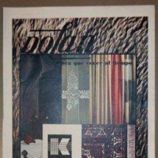 Coleccionismo Papel Varios: RECORTE PRENSA PUBLICIDAD DOLAN 1965. Lote 150674378
