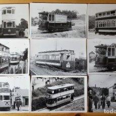Coleccionismo Papel Varios: LOTE 9 FOTOGRAFÍAS TRANVIAS INGLATERRA AÑOS 60 - TRANVIAS INGLESES TRANVIAS BRITANICOS AÑOS 60. Lote 150715066