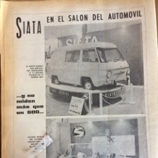Coleccionismo Papel Varios: PUBLICIDAD AUTOMÓVIL FURGONETA SIATA DE 1969. Lote 150784093