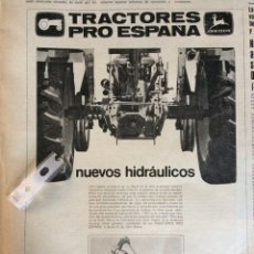Coleccionismo Papel Varios: PUBLICIDAD TRACTORES JOHN DEERE DE 1970. Lote 150788849