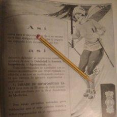 Coleccionismo Papel Varios: RECORTE PRENSA PUBLICIDAD AÑOS 20-1925 JARABE HIPOFOSFITOS SALUD.MEDICAMENTO.VER. Lote 150826409