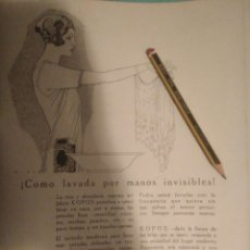 Coleccionismo Papel Varios: RECORTE PRENSA PUBLICIDAD AÑOS 20-1925 JABON KOPOS PERDUMERIA GAL MADRID.MN19. Lote 150827157