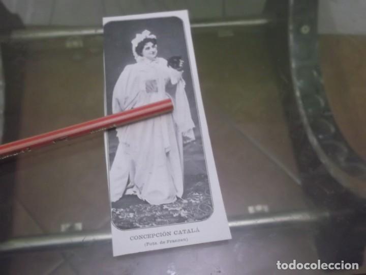 RECORTE AÑO 1901 - LA ARTISTA ESPAÑOLA CONCEPCIÓN CATALÁ (Coleccionismo en Papel - Varios)