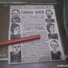 Coleccionismo Papel Varios: RECORTE PUBLICIDAD AÑO 1902 - TONICO KOCH - CLINICA MATEOS - MADRID . Lote 150953854